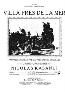 Villa près de la mer, für Klavier, vierhändig: Villa près de la mer, für Klavier, vierhändig by Nicolas Kazanli