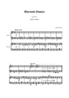 Nr.7 Skočná: Für Klavier, vierhändig by Antonín Dvořák