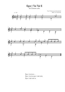 Epo I Tai Tai E: Epo I Tai Tai E by folklore