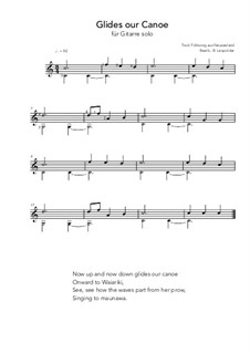 Glides our canoe: For guitar solo (C Major) by folklore