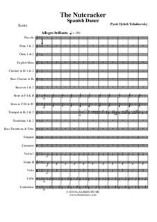 Nr.12 Divertissement: Spanish Dance, for full orchestra by Pjotr Tschaikowski