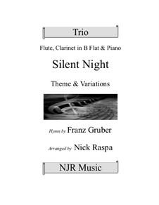 Stille Nacht (Noten zum Download): Trio for flute, clarinet and piano by Franz Xaver Gruber