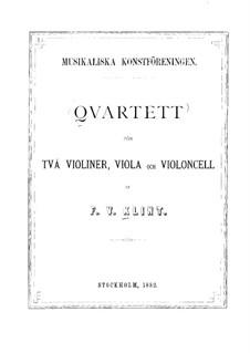 Streichquartett in A-Dur, Op.25 No.2: Violinstimme I by Fredrik Wilhelm Klint