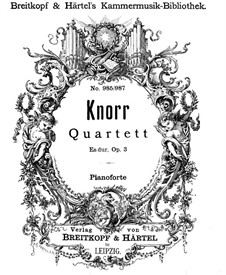 Klavierquartett in Es-Dur, Op.3: Vollpartitur by Ivan Knorr