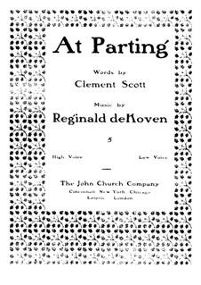At Parting: At Parting by Reginald De Koven