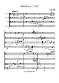 String Quartet No.38: String Quartet No.38 by Jordan Grigg