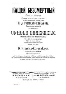 Kaschtschei, der Unsterbliche: Vollpartitur by Nikolai Rimsky-Korsakov