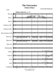 Nr.6 Chinesischer Tanz: For full orchestra by Pjotr Tschaikowski