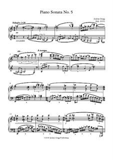 Piano Sonata No.5: Piano Sonata No.5 by Jordan Grigg