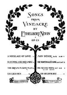 Songs from Vineacre, Op.28: No.2 Sleeping and Dreaming by Ethelbert Woodbridge Nevin
