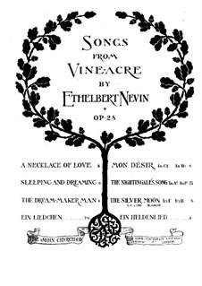 Songs from Vineacre, Op.28: No.5 The Dream-Maker Man by Ethelbert Woodbridge Nevin