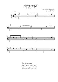 Abiyo Abeyo: For guitar solo (C Major) by folklore