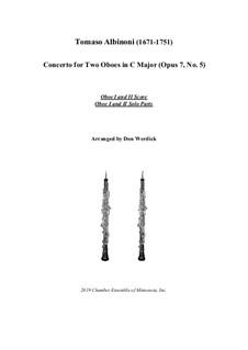 Concerto No.5 in C Major: Version for two oboes and string orchestra – solo by Tomaso Albinoni