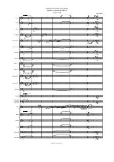 Violin Concerto Kairos for violin and orchestra: II Panta rhei – score by Hans Bakker