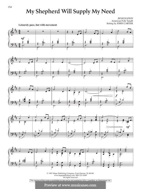 My Shepherd, You Supply My Need: Für Klavier by folklore