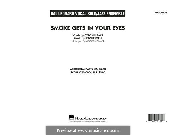 Smoke Gets in Your Eyes (from 'Roberta'): Conductor score (arr. Roger Holmes) by Jerome Kern