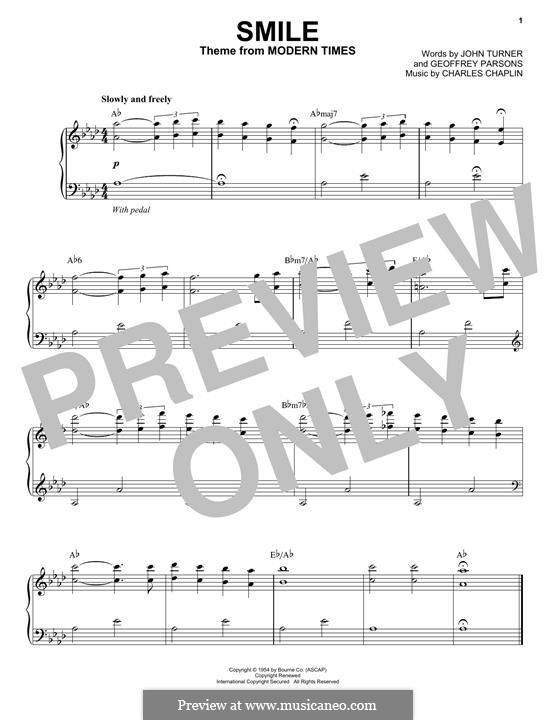 Smile: Für Klavier by Charles Chaplin