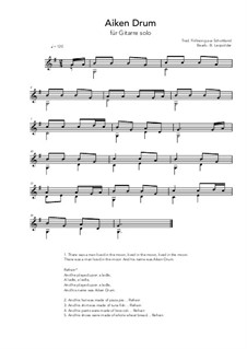 Aiken Drum: For guitar solo (G Major) by folklore