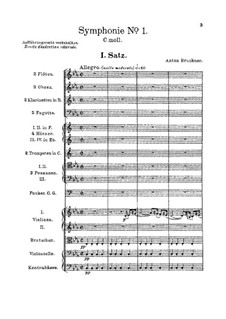 Sinfonie Nr.1 in c-Moll, WAB 101: Vollpartitur by Anton Bruckner