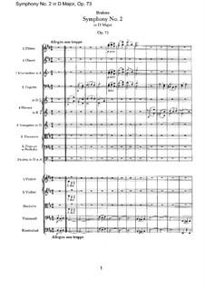 Vollständiger Satz: Vollpartitur by Johannes Brahms