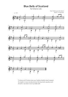 Blue Bells of Scotland: Für Gitarre by folklore