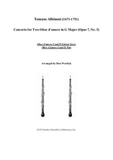 Concerto No.5 in C Major: Version for two oboe d'amore (G Major) – solo by Tomaso Albinoni