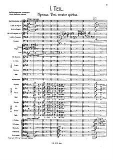 Sinfonie Nr.8 in Es-Dur: Movement I – score by Gustav Mahler