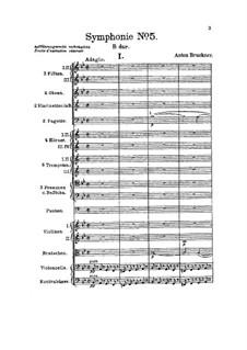 Sinfonie Nr.5 in B-Dur, WAB 105: Vollpartitur by Anton Bruckner