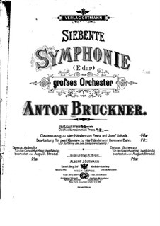 Sinfonie Nr.7 in E-Dur, WAB 107: Vollpartitur by Anton Bruckner