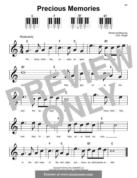 Precious Memories: Für Klavier by J. B. F. Wright