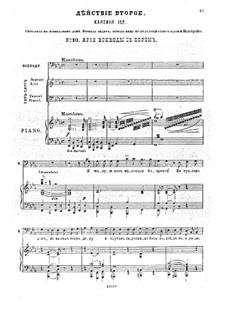 Traum auf der Wolga, Op.16: Akt II, Klavierauszug mit Singstimmen by Anton Arenski