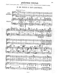 Traum auf der Wolga, Op.16: Akt III, Klavierauszug mit Singstimmen by Anton Arenski
