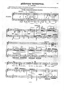 Traum auf der Wolga, Op.16: Akt IV, Klavierauszug mit Singstimmen by Anton Arenski