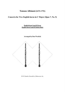 Concerto No.5 in C Major: Version for two english horns and string orchestra – solo by Tomaso Albinoni
