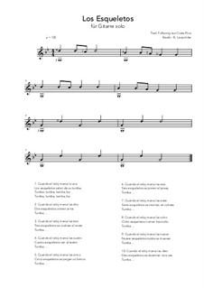 Los Esqueletos: For guitar solo (g minor) by folklore