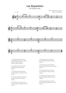 Los Esqueletos: For guitar solo (a minor) by folklore
