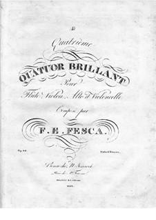 Quartett Brillant Nr.4 für Flöte, Violine, Viola und Cello, Op.42: Flötenstimme by Friedrich Fesca