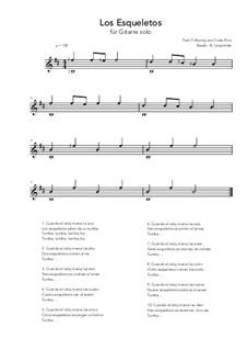 Los Esqueletos: For guitar solo (b minor) by folklore