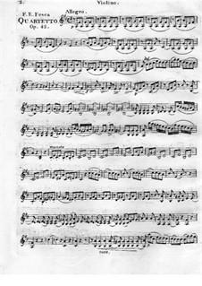 Quartett Brillant Nr.4 für Flöte, Violine, Viola und Cello, Op.42: Violinstimme by Friedrich Fesca