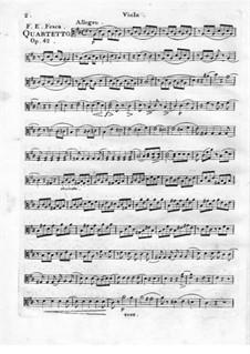 Quartett Brillant Nr.4 für Flöte, Violine, Viola und Cello, Op.42: Violastimme by Friedrich Fesca
