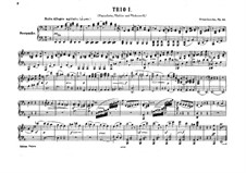 Klaviertrio Nr.1 in d-Moll, Op.49: Version für Klavier, vierhändig by Felix Mendelssohn-Bartholdy
