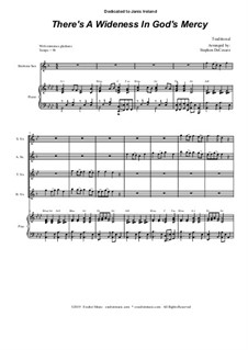 There's a Wideness in God's Mercy: For Saxophone Quartet and Piano by folklore