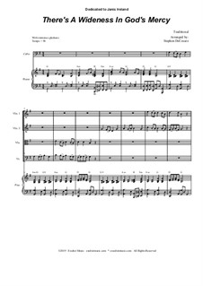 There's a Wideness in God's Mercy: For String Quartet and Piano by folklore