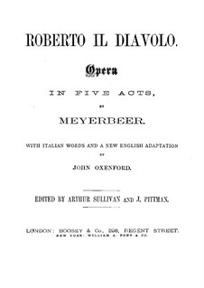 Robert der Teufel: Nr.1-3 by Giacomo Meyerbeer
