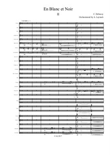 En blanc et noir (In Black and White), L.134: For symphonic orchestra – 2nd movement by Claude Debussy