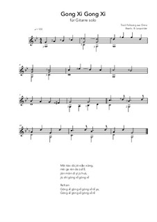 Gong Xi Gong Xi: For guitar solo (g minor) by folklore