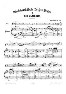 Oberösterreichische Dorfgeschichten für Flöte und Klavier, Op.134: Version für Flöte und Klavier by Adolf Terschak