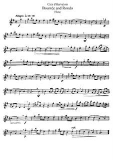 Bourrée und Rondo: Bearbeitung für Flöte und Klavier – Solo Stimme by Louis de Caix d'Hervelois