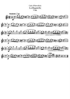 La Bagatelle: Bearbeitung für Flöte und Klavier – Solo Stimme by Louis de Caix d'Hervelois