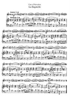 La Bagatelle: Bearbeitung für Flöte und Klavier by Louis de Caix d'Hervelois